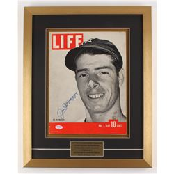 Joe DiMaggio Signed New York Yankees 17.5x22 Custom Framed Shadowbox 1939 Magazine Display (PSA LOA)