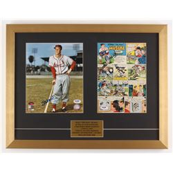 Stan Musial Signed St. Louis Cardinals 17x22 Custom Framed Display with Photo  Comic Page (PSA COA