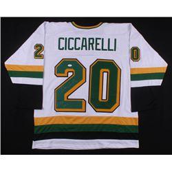 "Dino Ciccarelli Signed Minnesota North Stars Jersey Inscribed ""H.O.F 2010"" (JSA COA)"