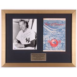 "Joe DiMaggio Signed New York Yankees 17x22 Custom Framed Shadowbox Photo Display Inscribed ""Best Wis"
