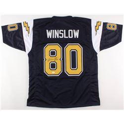 """Kellen WInslow Signed San Diego Chargers Jersey Inscribed """"HOF 95"""" (JSA COA)"""
