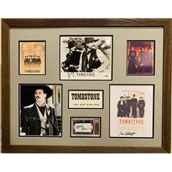 Tombstone 24x30 Custom Framed Display Cast-Signed by (4) with Kurt Russell, Bill Paxton, Val Kilmer,