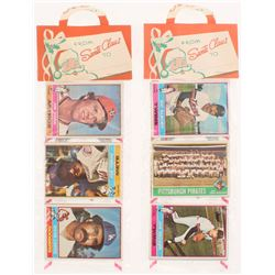 Lot of (2) 1976 Topps Baseball Unopened Christmas Rack Packs with (12) Cards Each