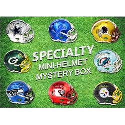 Football Superstar Signed Specialty Mini Helmet Mystery Box - Series 1 (Limited to 50)  - (ALL MINI