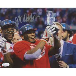 J. K. Dobbins Signed Ohio State Buckeyes 8x10 Photo (JSA COA)