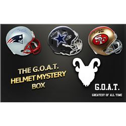 Schwartz Sports The G.O.A.T. Football Superstar Signed Full-Size Helmet Mystery Box - Series 1 (Limi
