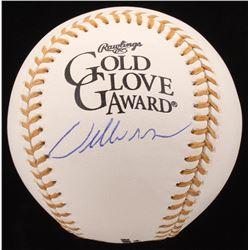 Willie McGee Signed Gold Glove Logo baseball (JSA COA)