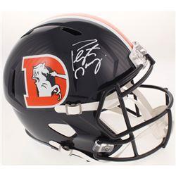 Peyton Manning Signed Denver Broncos Full-Size Speed Helmet (Fanatics Hologram)