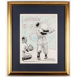 "Yogi Berra  Stan Musial Signed 21x25 Custom Framed Lithograph Inscribed ""Yogi It's Over!!!"" (PSA COA"