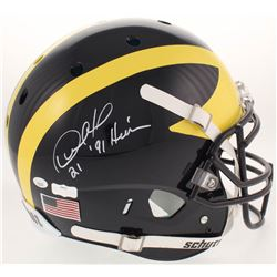 """Desmond Howard Signed Michigan Wolverines Full-Size Authentic On-Field Helmet Inscribed """" '91 Heisma"""