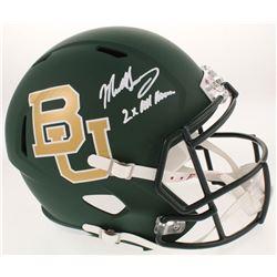 "Mike Singletary Signed Baylor Bears Full-Size Speed Helmet Inscribed ""2x All American"" (Radtke COA)"