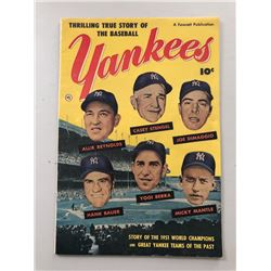 """1951 """"Thrilling True Story of the Baseball Yankees"""" Issue #0 Fawcett Publications Comic Book"""