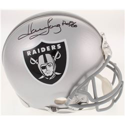 """Howie Long Signed Oakland Raiders Full-Size Authentic On-Field Helmet Inscribed """"HOF 00"""" (JSA COA)"""