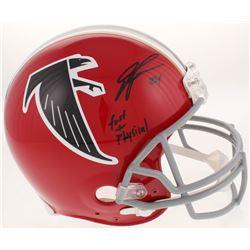 "Devonta Freeman Signed Atlanta Falcons Throwback Full-Size Authentic On-Field Helmet Inscribed ""Fast"