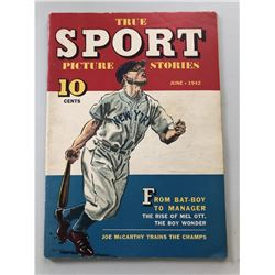"""1942 """"Mickey Mantle"""" Issue #7 Vol. 1 True Sport Picture Stories Comic Book"""