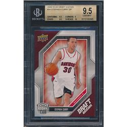 2009-10 Upper Deck Draft Edition #34 Stephen Curry SP (BGS 9.5)