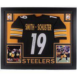 JuJu Smith-Schuster Signed Pittsburgh Steelers 35x43 Custom Framed Jersey (Beckett COA)
