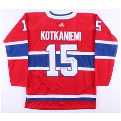 Jesperi Kotkaniemi Signed Montreal Canadiens Jersey (JSA COA)
