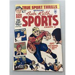 "1949 ""Babe Ruth"" Issue #5 Sports Comics Comic Book"