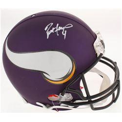 Brett Favre Signed Minnesota Vikings Full-Size Authentic On-Field Helmet (Favre COA)