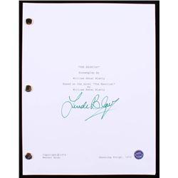 "Linda Blair Signed ""The Exorcist"" Movie Script (Legends COA)"