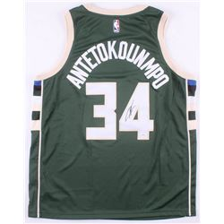 Giannis Antetokounmpo Signed Milwaukee Bucks Jersey (JSA COA)