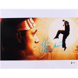"Ralph Macchio Signed ""The Karate Kid"" 10x13 Photo (Beckett COA)"