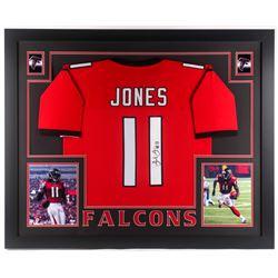 Julio Jones Signed Atlanta Falcons 35x43 Custom Framed Jersey (JSA COA)