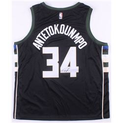 Giannis Antetokounmpo Signed Milwaukee Bucks Jersey (JSA COA)