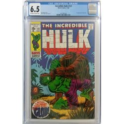 "1969 ""The Incredible Hulk"" Issue #121 Marvel Comic Book (CGC 6.5)"
