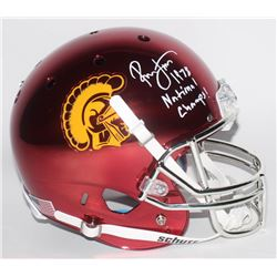 "Ronnie Lott Signed USC Trojans Custom Chrome Full-Size Helmet Inscribed ""1978 National Champs!"" (Rad"