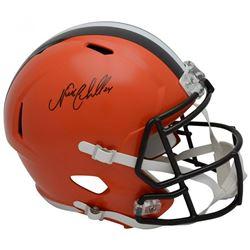 Nick Chubb Signed Cleveland Browns Full-Size Speed Helmet (Fanatics Hologram)