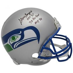 Steve Largent Signed Limited Edition Seattle Seahawks Throwback Full-Size Authentic On-Field Helmet