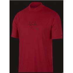 Tiger Woods Signed Nike Polo Red Vapor Dry Mock Turtleneck Shirt (UDA COA)