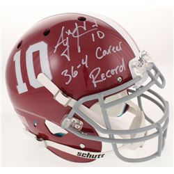 "A.J. McCarron Signed Alabama Crimson Tide Full-Size Authentic On-Field Helmet Inscribed ""36-4 Career"