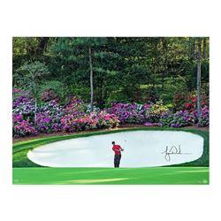 """Tiger Woods Signed """"Azalea"""" 30x40 Photo (UDA COA)"""