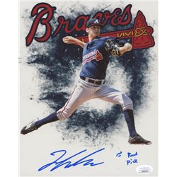 "Ian Anderson Signed Atlanta Braves 8x10 Photo Inscribed ""1st Round Pick"" (JSA COA)"