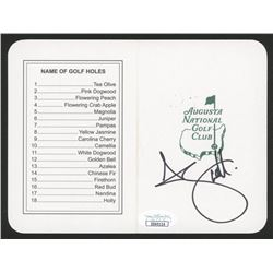 "Adam Scott Signed ""Masters"" Augusta National Golf Club Scorecard (JSA COA)"