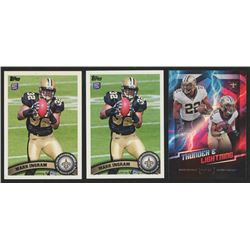 Lot of (3) Mark Ingram Football Cards with (2) 2011 Topps #426C FS  2018 Playoff Thunder and Lightni