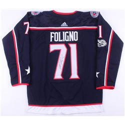 Nick Foligno Signed Columbus Blue Jackets Captain's Jersey (JSA COA)