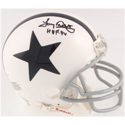 "Tony Dorsett Signed Dallas Cowboys Throwback Mini Helmet Inscribed ""HOF 94"" (JSA COA)"