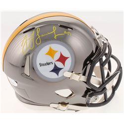 JuJu Smith-Schuster Signed Pittsburgh Steelers Chrome Speed Mini-Helmet (JSA COA)
