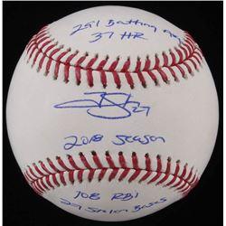 Trevor Story Signed OML Baseball with Multiple Inscriptions (JSA COA)