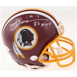 "Joe Theismann Signed Washington Redskins Mini Helmet Inscribed ""83 MVP"" (JSA COA)"