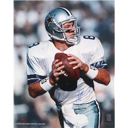 Troy Aikman Signed Dallas Cowboys 16x20 Photo (Radtke COA  Aikman Hologram)