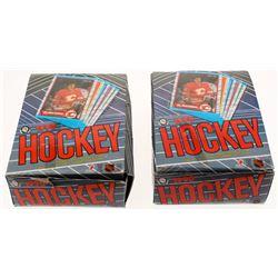 Lot of (2) 1989-90 O-Pee-Chee Hockey Box of (48) Wax Packs