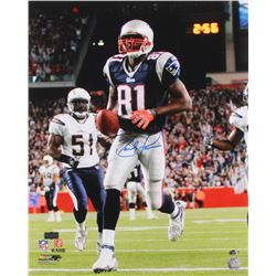 Randy Moss Signed New England Patriots 16x20 Photo (Radtke COA  Moss Hologram)