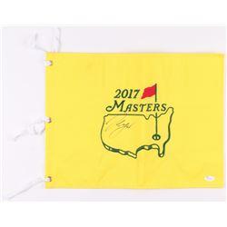 Sergio Garcia Signed 2017 Masters Tournament Pin Flag (JSA COA)