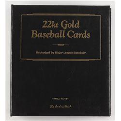 Set of (50) 22kt Gold Baseball Cards With Bert Campaneris, Harmon Killebrew, Babe Ruth
