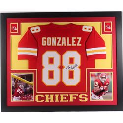 Tony Gonzalez Signed Kansas City Chiefs 35x43 Custom Framed Jersey (JSA COA)